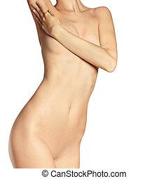 mooi, lichaam, vrouwlijk