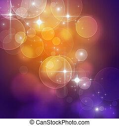 mooi, lichten, abstract, vakantie, achtergrond