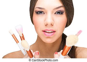 mooi, makeup, model