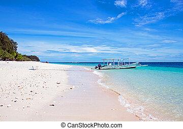 mooi, meno, indonesie, strand, gili
