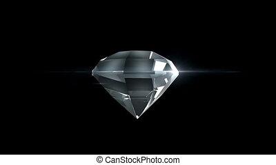 mooi, movement., diamant, achtergrond., looped, black , schaduw, koude, radvormigen