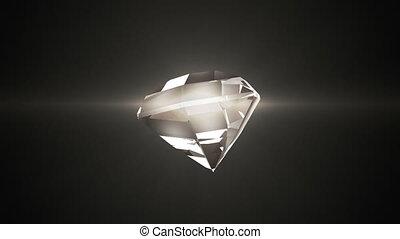 mooi, movement., diamant, warme, achtergrond., looped, black , schaduw, radvormigen