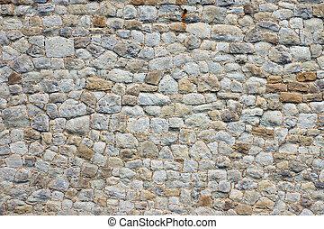 mooi, muur, steen