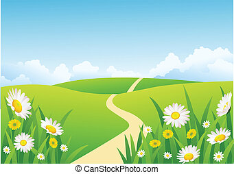 mooi, natuur, achtergrond
