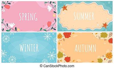 mooi, natuurlijke , seizoense afkomst, set