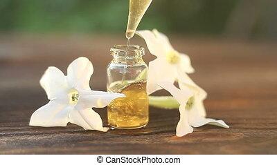 mooi, olie, fles, tabak, gevleugeld, houten, achtergrond,...