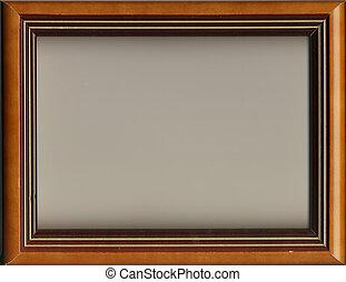 mooi, oud, frame, voor, een, afbeelding