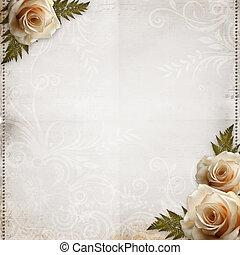 mooi, ouderwetse , achtergrond, trouwfeest