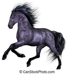 mooi, paarde