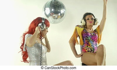 mooi, professioneel, gogo, dancing