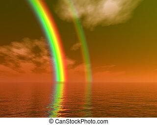 mooi, regenboog