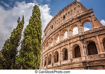 mooi, rome, colosseum, italië