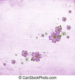 mooi, roze, floral, achtergrond