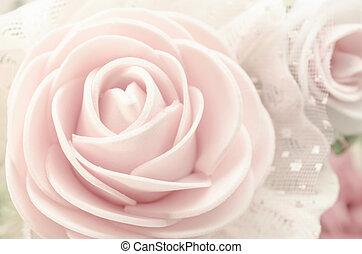 mooi, roze, sepia, rose.