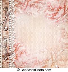 mooi, rozen, album, grunge, dekking