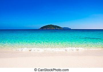 mooi, similan, strand, eilanden