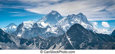 mooi, snow-capped, bergen