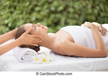 mooi, spa, woman., salon