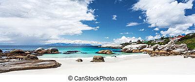 mooi, strand, keien, landscape