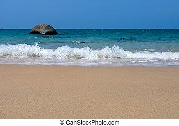 mooi, strand, landscape, in, thailand