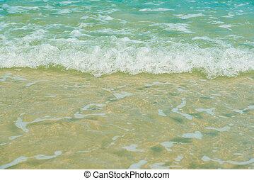 mooi, strand, zomer, achtergrond, zee