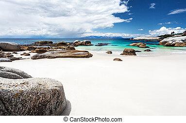 mooi, strand, zuiden, landscape, afrikaan