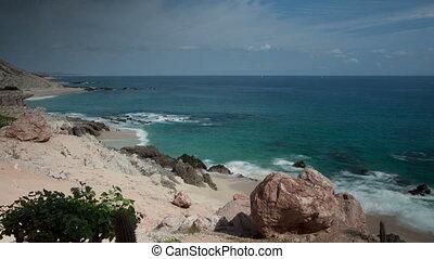 mooi, timelapse, grit, in, los, cabo, baja californië sur, mexico, waar, de, woestijn, bereiken, rechts, dons, om te, de, pacific, ocean., daar, is, een, verbazend, kwaliteit, van licht, ongeveer, dit, gebied