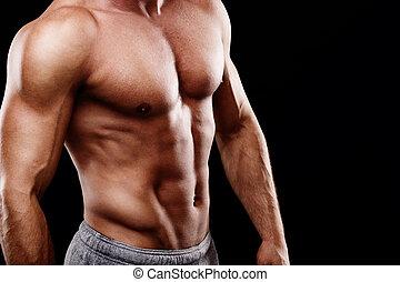 mooi, torso, jonge, man's