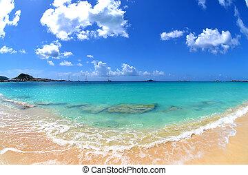 mooi, tropisch strand