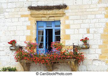 mooi, venster, middellandse zee