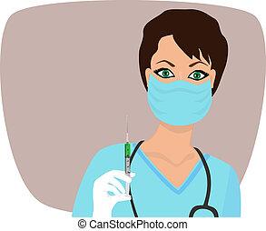 mooi, verpleegkundige