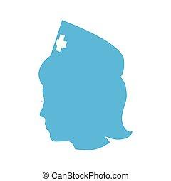 mooi, verpleegkundige, karakter, medisch