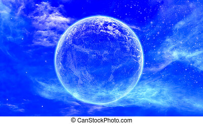 mooi, volle maan, avond lucht, achtergrond, sterretjes, vredig
