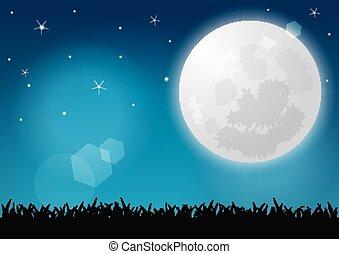 mooi, volle maan