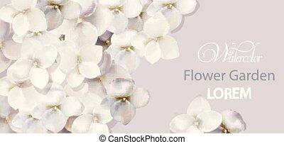 mooi, watercolor, bloemen, ceremonie, uitnodiging, begroetenen, vector., trouwfeest, witte , sparen, datum, kaart