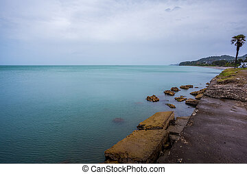mooi, zee, landscape, in, ajaria, georgië