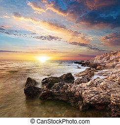 mooi, zee, landscape