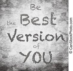 mooi, zijn, noteren, motivational, versie, boodschap, best