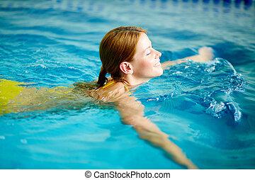 mooi, zwemmer