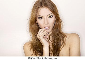 mooie vrouw, volwassene, sensuality