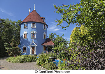 Moomin house on a sunny summer day. Finland