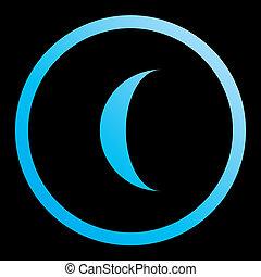 moon-96, abnehmen, -, freigestellt, illustriert,...