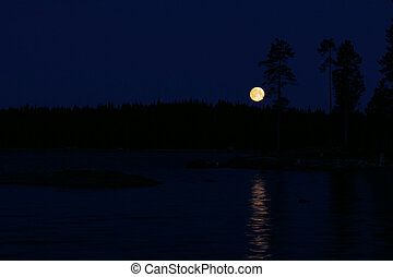 moon above water