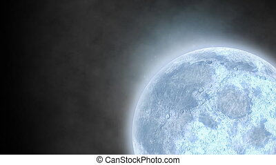 Moon and clouds of smoke - Animation of night sky with full ...