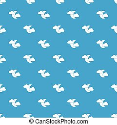 Moon and clouds pattern seamless blue