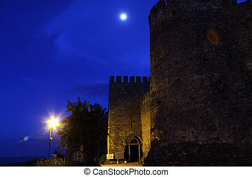 Moon and fortress