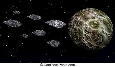 moon and meteorites