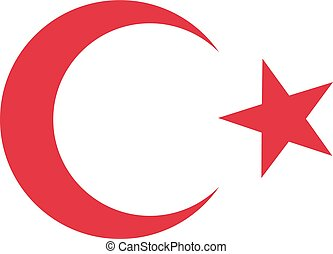 Moon and star of turkey flag