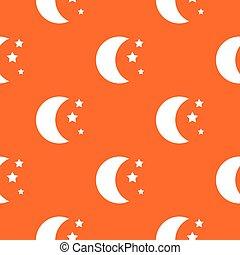 Moon and stars pattern seamless
