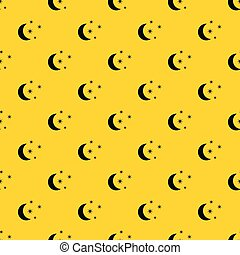 Moon and stars pattern vector